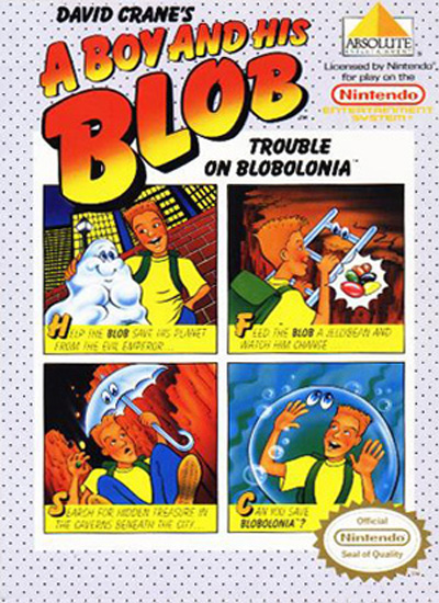 A Boy 'n his Blob nes cover